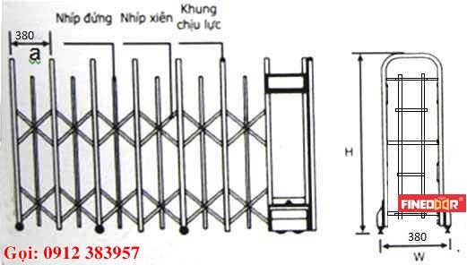 Mô hình cổng xếp sắt sơn tĩnh điện, cổng xếp tự động bằng sắt, cổng xếp, cổng xếp sắt sơn tĩnh điện, cổng xếp kéo tay